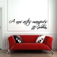 "Sticker ""A nos actes manqués"".  Disponible sur www.artandstick.be"
