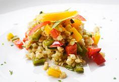 Das #Rezept für ein Gersten Risotto ist gesund und kann mit diversen Kräutern variiert werden.
