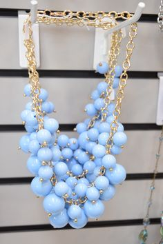 Serenity chunky necklace from Shopaholics. Pantone color of the year jewelry.