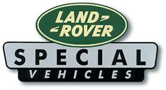 """LAND ROVER SPECIAL VEHICLES STICKER 4"""" X 2 1/4"""""""