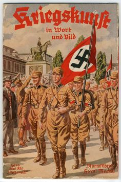 STURMFÜHRER HORST WESSEL - Propagandaheft KRIEGSKUNST d. Verlags Offene Worte,Berlin - voll bebildert, 1935,
