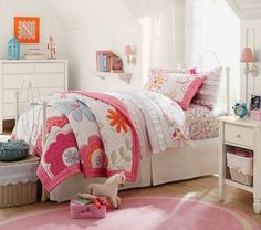 Pottery Barn Kids offers kids & baby furniture, bedding and toys designed to delight and inspire. Create or shop a baby registry to find the perfect present. Pottery Barn Kids, Quilt Bedding, Girl Bedding, Girl Decor, Little Girl Rooms, Baby Furniture, Girls Bedroom, Bedroom Ideas, Bedrooms