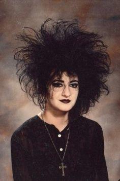 Ah, the Goth hair pouf -- seemed like such a good idea at the time...