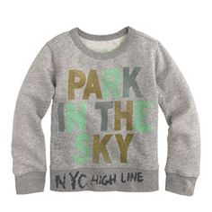 Kids' crewcuts for High Line park in the sky sweatshirt