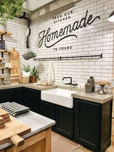 Top 42 Kitchen Design Inspirations from Joanna Gaines www.futuristarchi… Top 42 Kitchen Design Inspirations from Joanna Gaines www. Farmhouse Sink Kitchen, Kitchen Colors, Kitchen Backsplash, Kitchen Countertops, New Kitchen, Kitchen Dining, Kitchen Decor, Kitchen Sink, Farmhouse Style