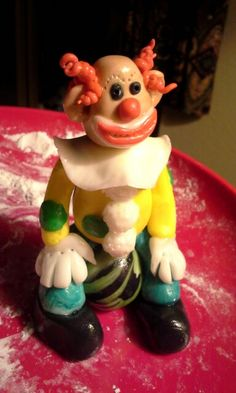 Clown I made of fondant.