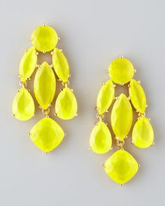 Ahhh I want these!! Kate Spade statement crystal earrings, yellow