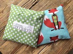 Fox and Dots Hot/Cold Packs by threedandelionsshop on Etsy