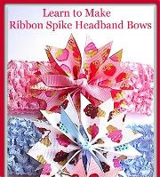 bows and hair bow ribbon spikes with tutorial