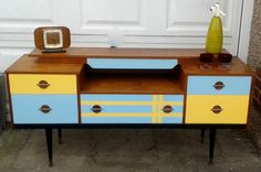 Cool retro upcycled scandistyle dressing table by Brightoldthings, £120.00