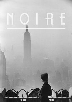 Noire - Font by Matteo Binci, via Behance