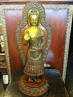Blessing Buddha Brass Statue Yoga Sculpture Figurine Idol, Holiday Gift Mogul Interior http://www.amazon.com/dp/B00W59Z78Y/ref=cm_sw_r_pi_dp_hVbuwb1TD8PEE