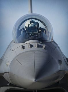An F-16 Fighting Falcon pilot positions for take-off during Red Flag 16-1 at Nellis Air Force Base, Nev., Jan 25, 2016. This mock battle in the skies over the Nevada Test and Training Range has yielded results that will increase the combat capability of our armed forces for any future combat situation. (U.S. Air Force photo by Kevin Tanenbaum)