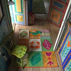 A little peek from Gudrun's own home on an ISLAND in the Wall Carpet, Carpet Flooring, Rugs On Carpet, Gudrun, Happy House, Colourful Outfits, Colorful Clothes, Happy Colors, Fabric Painting