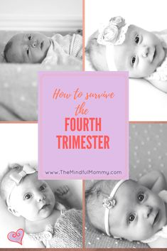 The first 3 months (AKA the fourth trimester) can be really difficult. Check out this post for ways to survive and thrive the first 3 months of your baby's life.