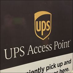 UPS-Access-Point Window Decal Window Clings, Window Decals, Retail Fixtures, United States Postal Service, Retail Merchandising, Close Up, Windows, Retail, Ramen