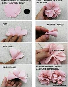 Ideas Flowers Fabric House You are in the right place about DIY Fabric Flowers bouquet Here we offer you the most beautiful pictures about the DIY Fabric Flowers step by step you a Easy Fabric Flowers, Material Flowers, Fabric Flower Tutorial, Cloth Flowers, Fabric Roses, Felt Flowers, Diy Flowers, Paper Flowers, Fabric Flower Headbands