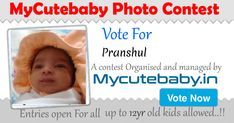 Vote For Pranshul - MyCuteBaby Photo Contest