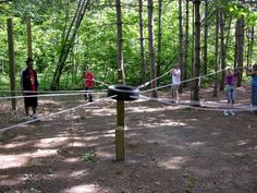 Giant Bull Ring group initiative. | Low Ropes and Outdoor Fun ...