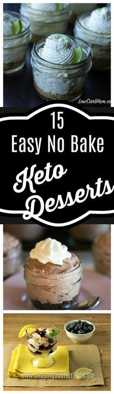 15 Easy No Bake Keto Desserts