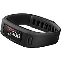 Opnå dine aktivitetsmål med det vandafvisende Garmin Vívofit fitness armbånd, der sporer dine fremskridt og giver dig besked, når det er tid til at bevæge sig.