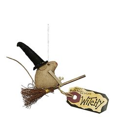 Take a look at this Primitives by Kathy Witchy Mouse Ornament on zulily today!