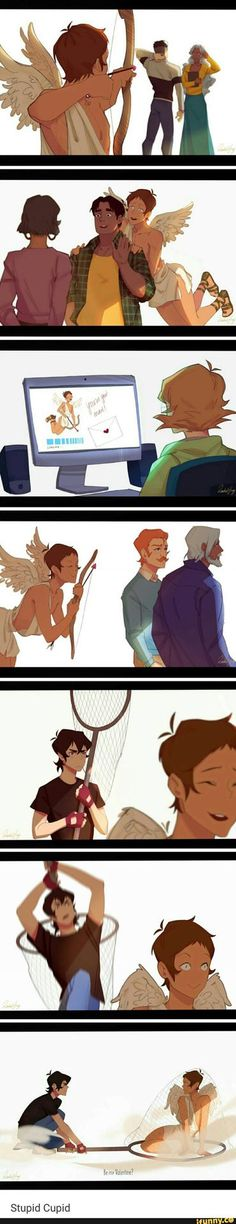 Lance as Cupid.  First of all, I don't ship klance (please don't kill me) Also this is cute and sad in my eyes. Lance finds pairs for other people, but what if he never could find the right girl for him?