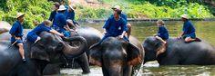 Lampang - gelegen im Norden von Thailand am Ufer des Wang.