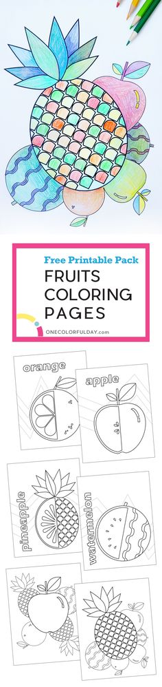 Free Printable Fruit Coloring Pages Great Boredom Busters For Kids During Summer Vacation There