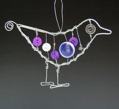 button/wire bird