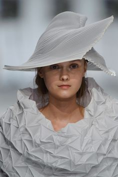 Issey Miyake at Paris Spring 2015. What a sweet fresh face!