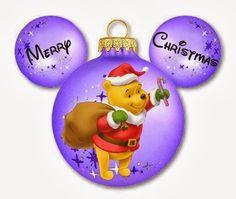 Imprimibles de Disney para Navidad con diferentes personajes. 5 diferentes.