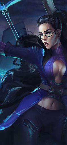 Vindicator Vayne ~ League of Legends fanart on Behance