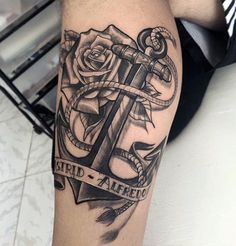 Male With Anchor Tattoo