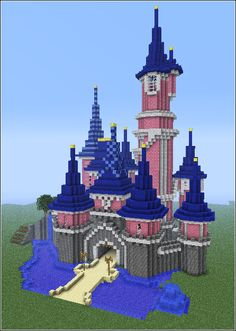 Disney castle in minecraft *-*