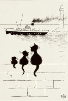 Albert Dubout 'Les chats' 05