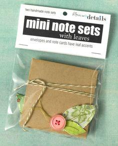 Fundraiser idea: Mini Note Set. Cool idea!