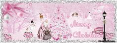 Merry Pink Christmas Facebook Cover