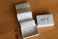 Matchbox Books. I love anything in miniature so these are especially creative. Great to pack in a lunch bag or stocking!