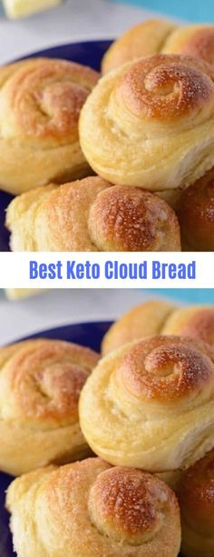 Easy & Delicious Cloud Bread Recipes Low Carb, Keto & Gluten Free - Let's make it yourself healhty tasty food - get more benefit for your good body shape Low Carb Bread, Low Carb Keto, Best Keto Bread, Ketogenic Recipes, Low Carb Recipes, Bread Recipes, Atkins Recipes, Starting Keto Diet, Keto Meal Plan