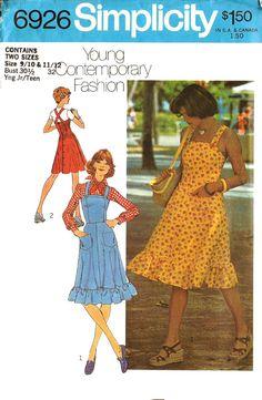 Eenvoud 6926 Vintage jaren 1970 jonge van DRCRosePatterns op Etsy