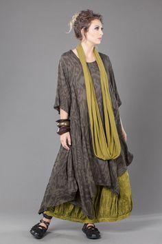 Jade Dress in Arret Ikat Delphi