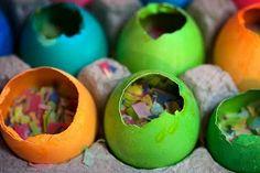 How to make confetti eggs! This is SOOOOOOO much fun!!! The kids love this!!