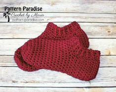 Easy Crochet Slippers, Crochet Socks, Crochet Clothes, Bag Crochet, Crochet Gifts, Crochet Baby, Crochet Potholders, Double Crochet, Crochet Stitches Patterns
