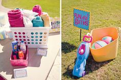 Love the idea of setting up a towel/sunscreen station for a toddler's water/outdoor playdate!