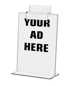 Lot of 6 Advertising Sign Holder Slatwall Mounted or Tabletop Bottom Load Literature. The holder can be mounted on a slatwall or placed on a tabletop. Acrylic Frames, Slat Wall, Advertising Signs, Tabletop, Sandwich Boards, Table, Countertop