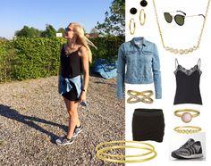 Sommeren er over os. Jeg går efter den feminine stil med pastelfarver, guld og zirkorier, men topper det af med nogle cool sneaks og en denim-jakke. #Hvisk #hviskstylist #hviskstreetstyle #hviskdenim Get the jewelry here: http://hvi.sk/r/4maW
