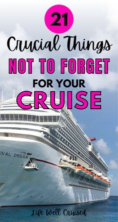 Cruise experts reveal what they've forgetten to pack for a cruise, and regretted. Learn from these cruise tips and be prepared for your cruise vacation. These packing tips will ensure you have all the essentials you need for your cruise holiday! Cruise Port, Cruise Travel, Cruise Vacation, Vacation Ideas, Luggage Packing, Packing List For Cruise, Cruise Tips, Bermuda Beaches, Best Cruise Ships