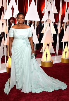 The Best and Worst Dressed at the 2015 Oscars | BEST: Octavia Spencer in Tadashi Shoji
