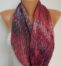 Line  Infinity Scarf Shawl Circle Scarf Loop Scarf  by fatwoman, $17.00